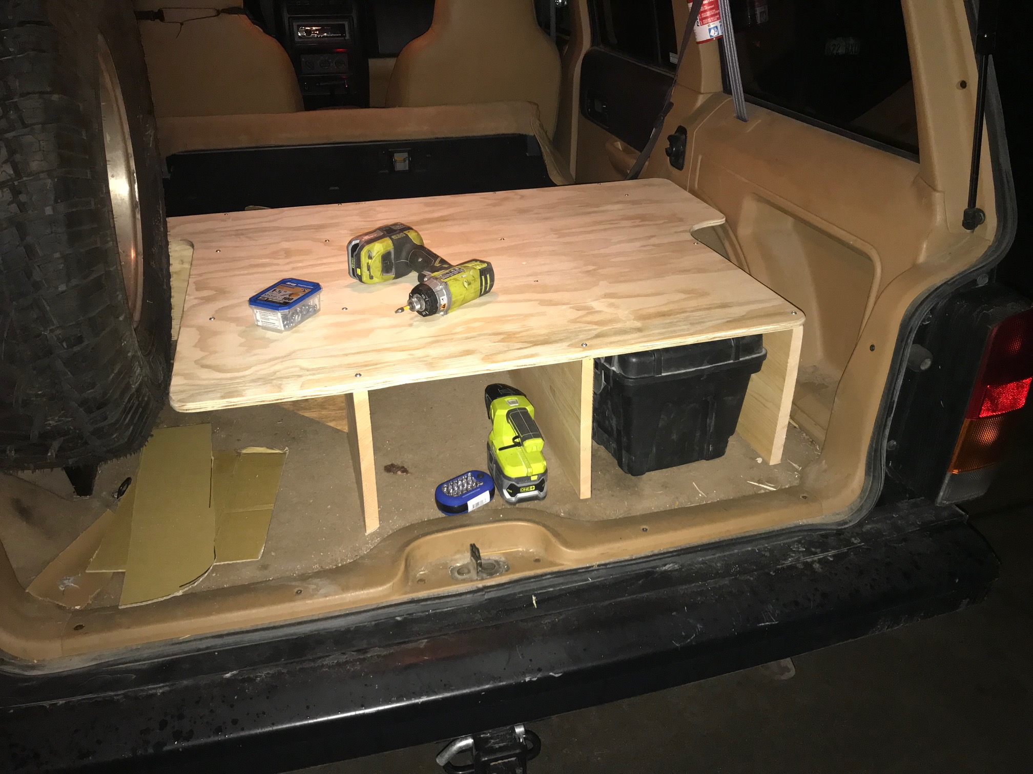 One Day Build Stow And Go Storage System Cargo Platform For My Jeep Cherokee Overland Rig Dan Nix