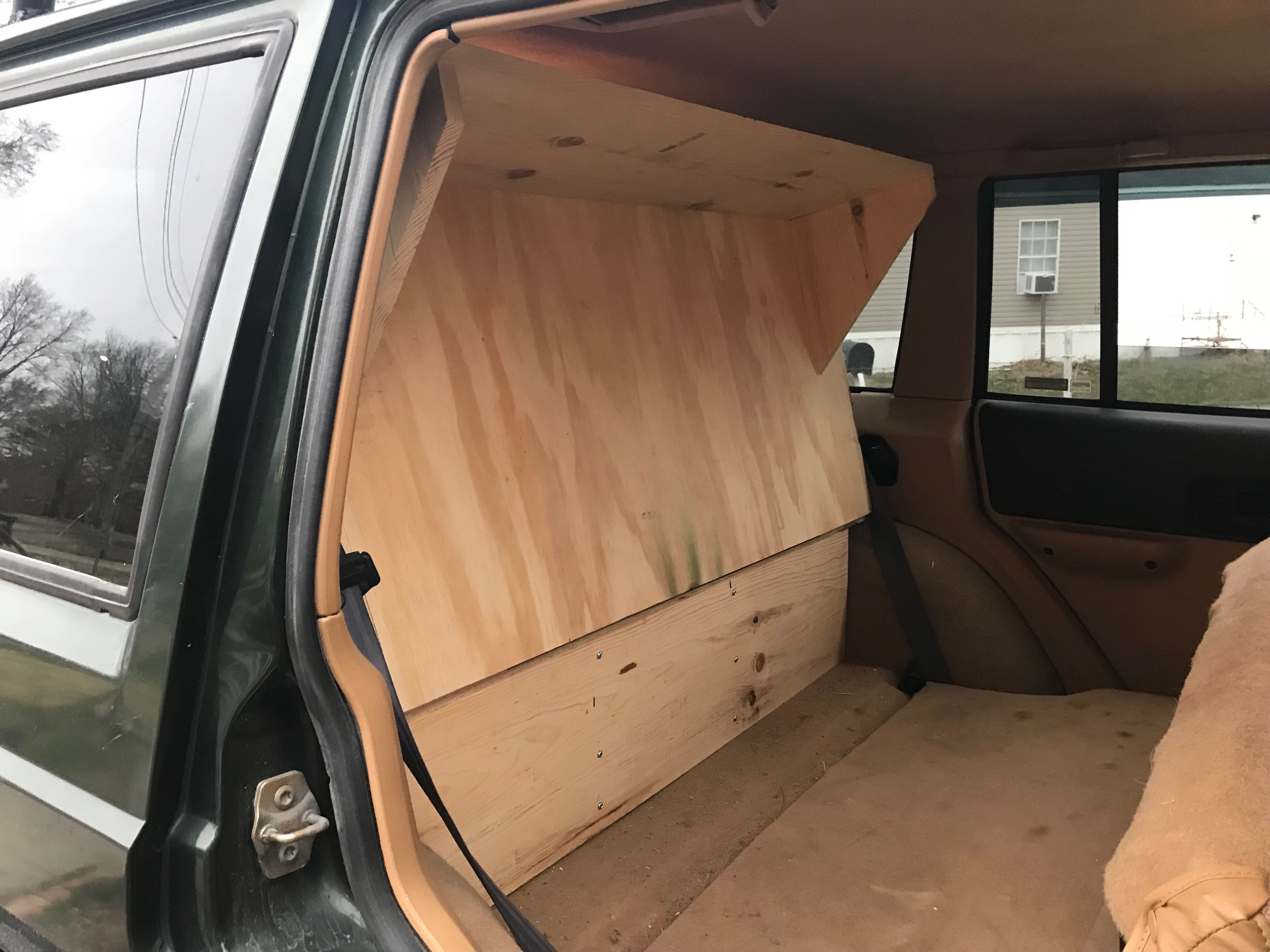 One Day Build Stow And Go Storage System Cargo Platform For My Jeep Cherokee Xj Dimentions Sleeping Folding Rear Seat