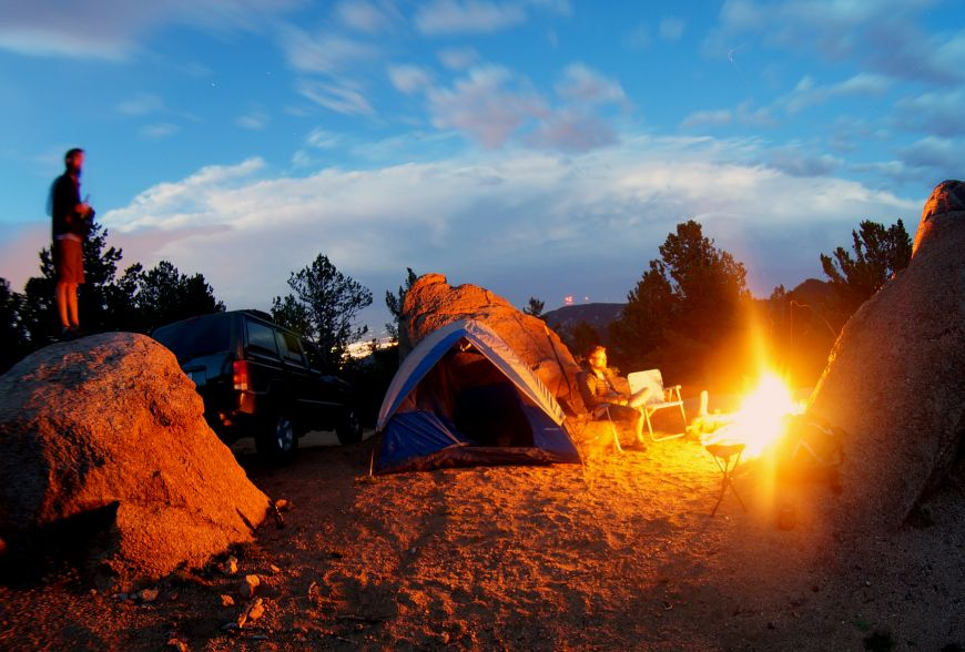 Camping in colorado with fisheye lens and long exposure