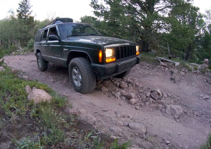 Medano Pass Great Sand Dunes Colorado primative road in a Jeep XJ Cherokee 4x4
