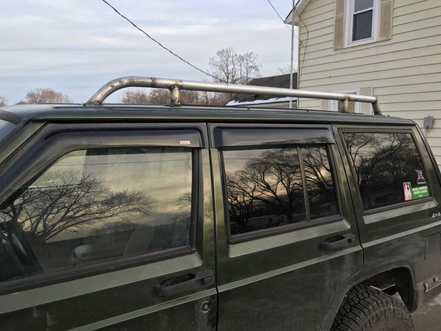 Diy Roof Rack Rails For My Jeep Cherokee Xj Dan 183 Nix