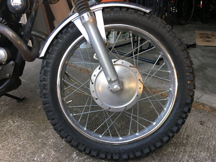 old vintage honda motorcycle rims, wheels and tires