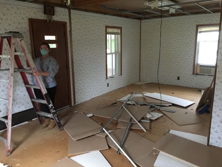 fixer upper house demolition
