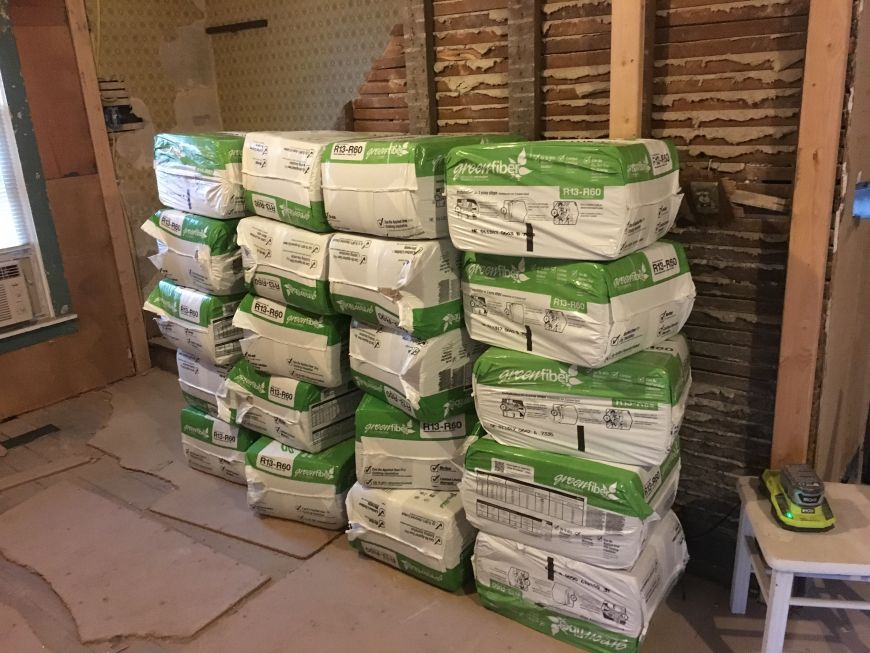 green fiber cellulose insulation loose fill blown in diy