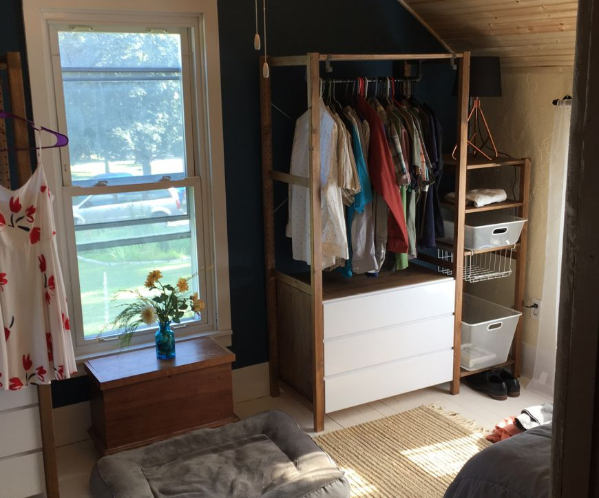 ikea hack using ivar for an open wardrobe system dan nix. Black Bedroom Furniture Sets. Home Design Ideas