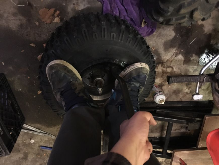how to install atv tire lawn mower tube quad rim