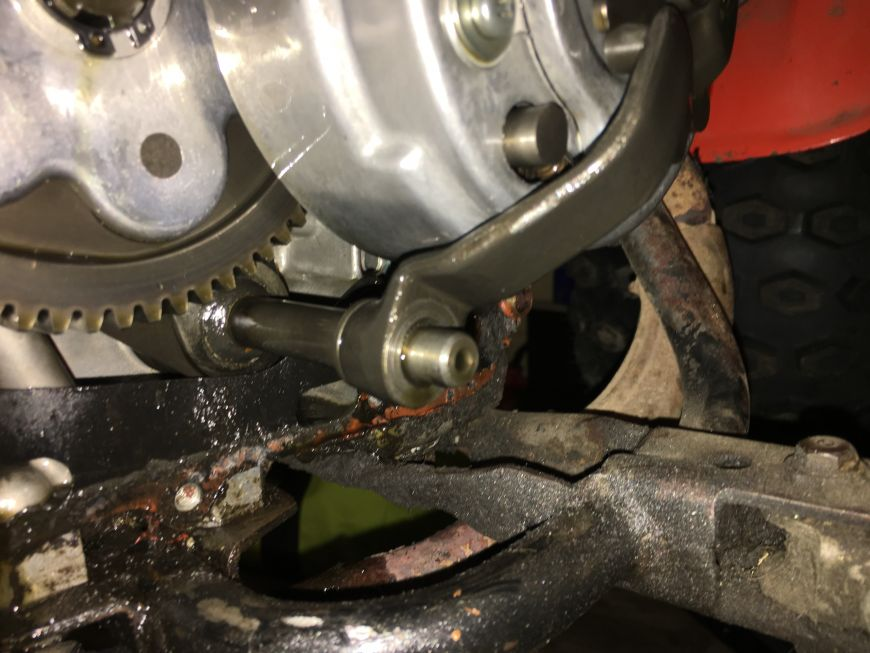 removing a clutch from a honda atc90