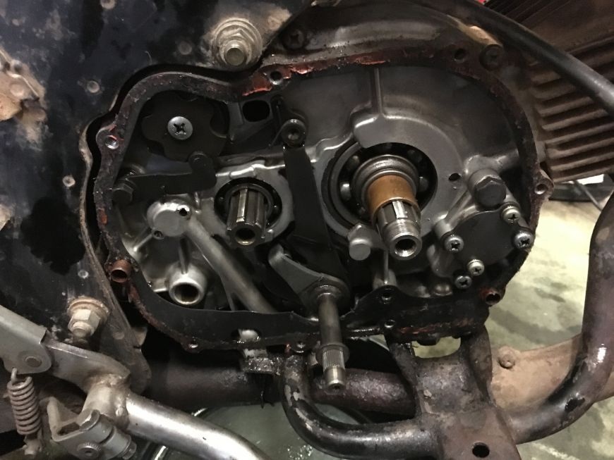 clutch removed from honda atc90