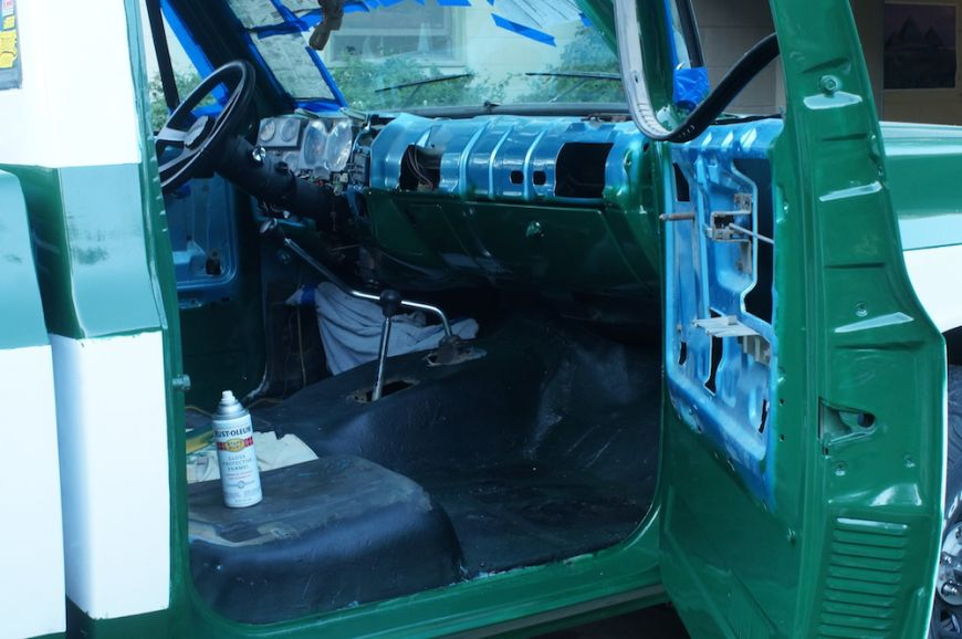 painting the interior on chevy k10 c10 squarebody truck