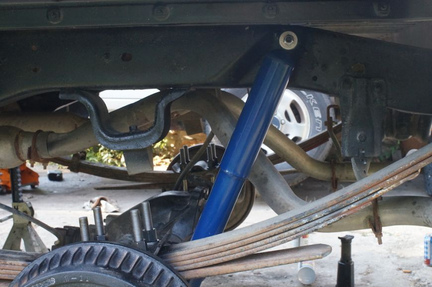 chevy k10 squarebody rear suspension stock height
