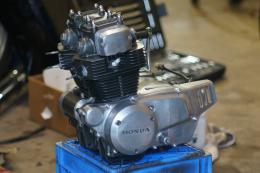 rebuilt motorcycle engine honda cl200 cb200 cafe racer rebuild overhaul