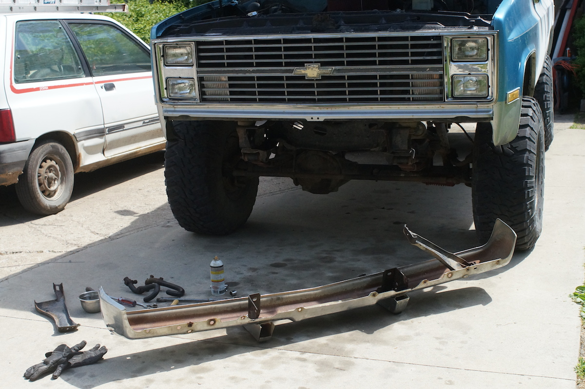Truck 1977 chevy truck hood : Chevy K10 truck restoration Phase 3: Front Clip Swap | Dan·nix